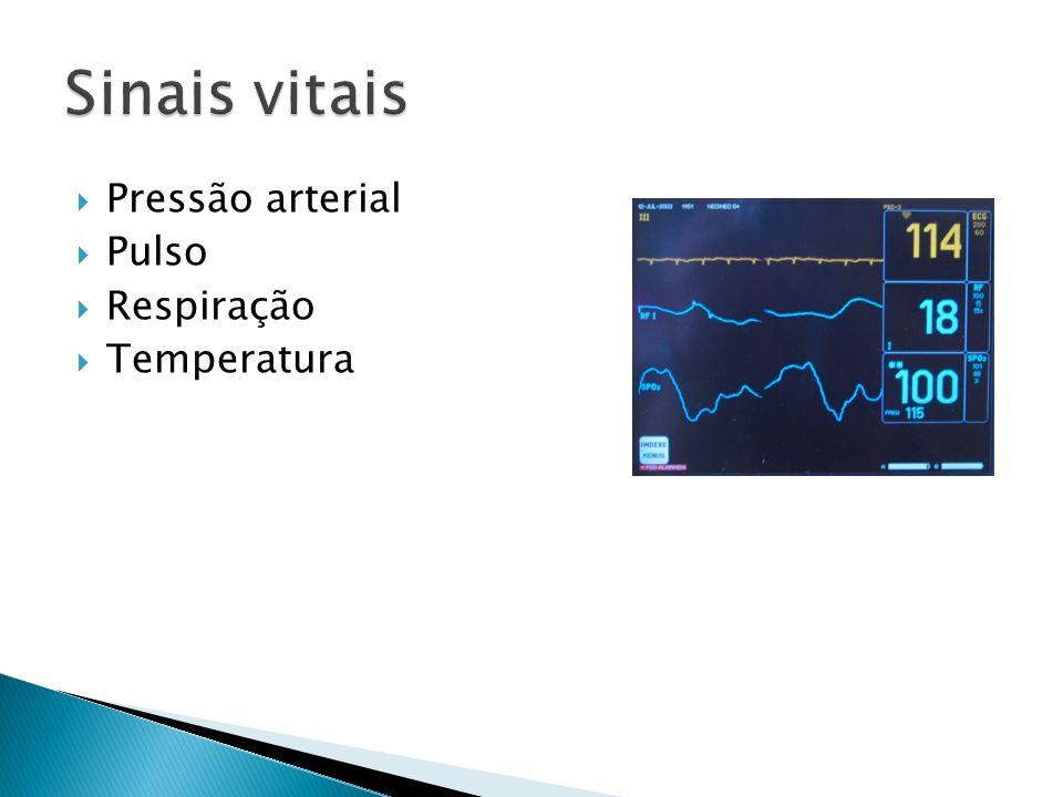 Pressão arterial Pulso Respiração Temperatura