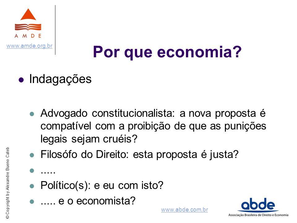 © Copyright by Alexandre Bueno Cateb www.amde.org.br www.abde.com.br Por que economia.