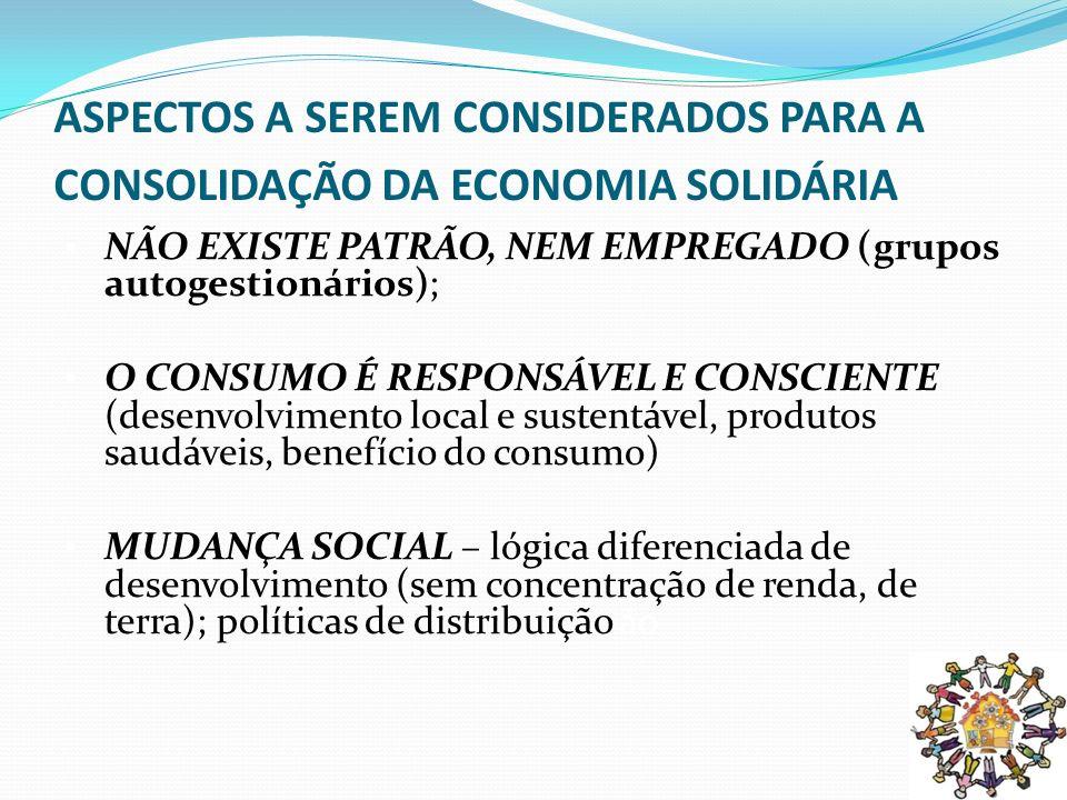 Economia Solidária Portanto, a economia solidária não pode ser reduzida a combater a pobreza ou ao empreendedorismo.