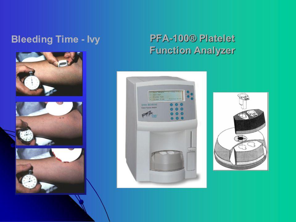 PFA-100® Platelet Function Analyzer Bleeding Time - Ivy