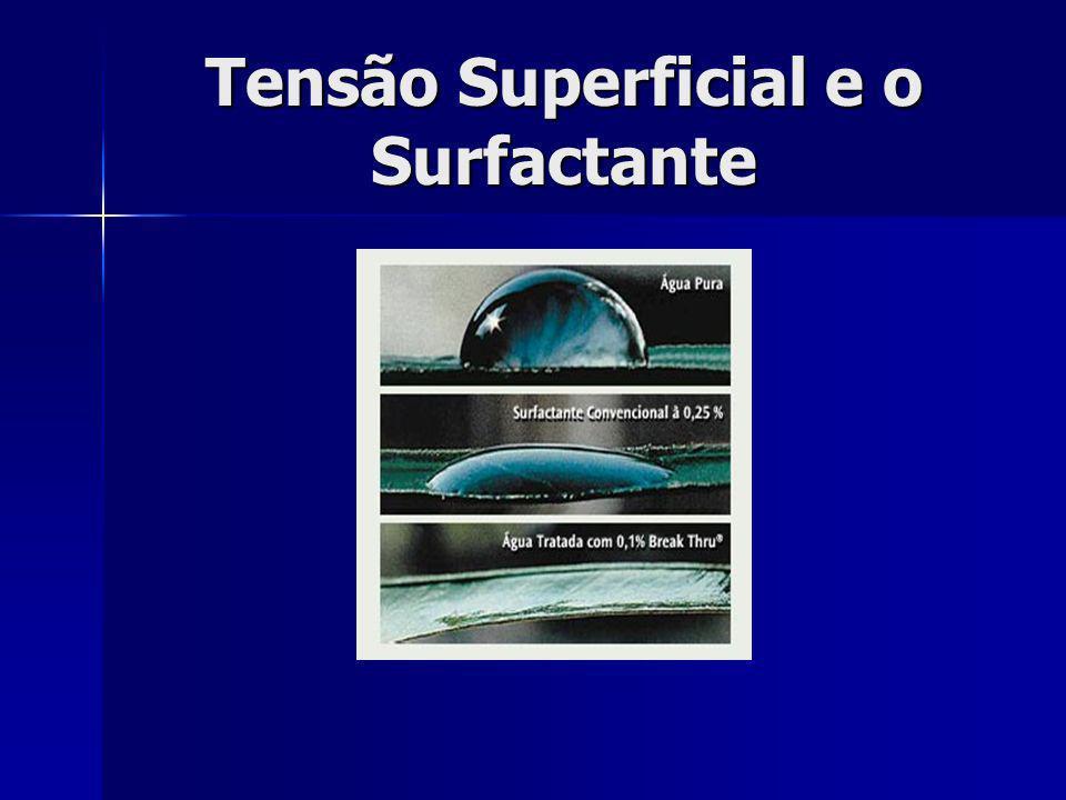 Tensão Superficial e o Surfactante