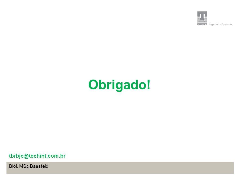 Projeto Base OffShore de Pontal do Paraná Coordenação de Meio Ambiente TEBRA I WORKSHOP PLANOS DE TRABALHO Biól. MSc Bassfeld Obrigado! tbrbjc@techint