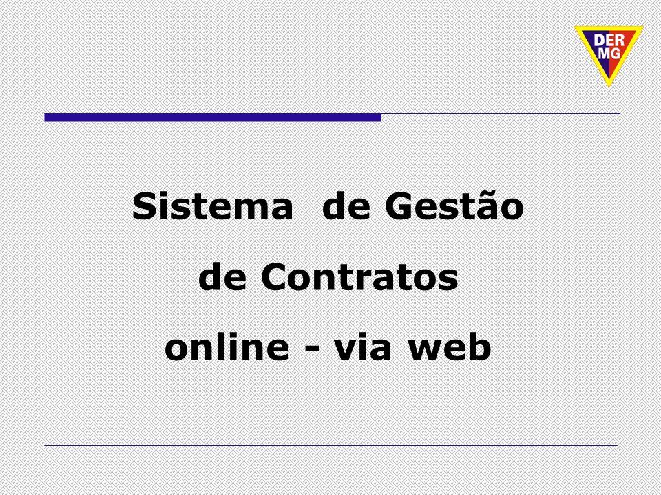 Sistema de Gestão de Contratos online - via web