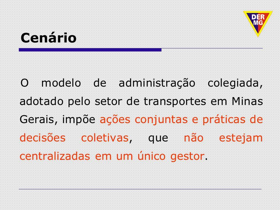 Cenário O modelo de administração colegiada, adotado pelo setor de transportes em Minas Gerais, impõe ações conjuntas e práticas de decisões coletivas