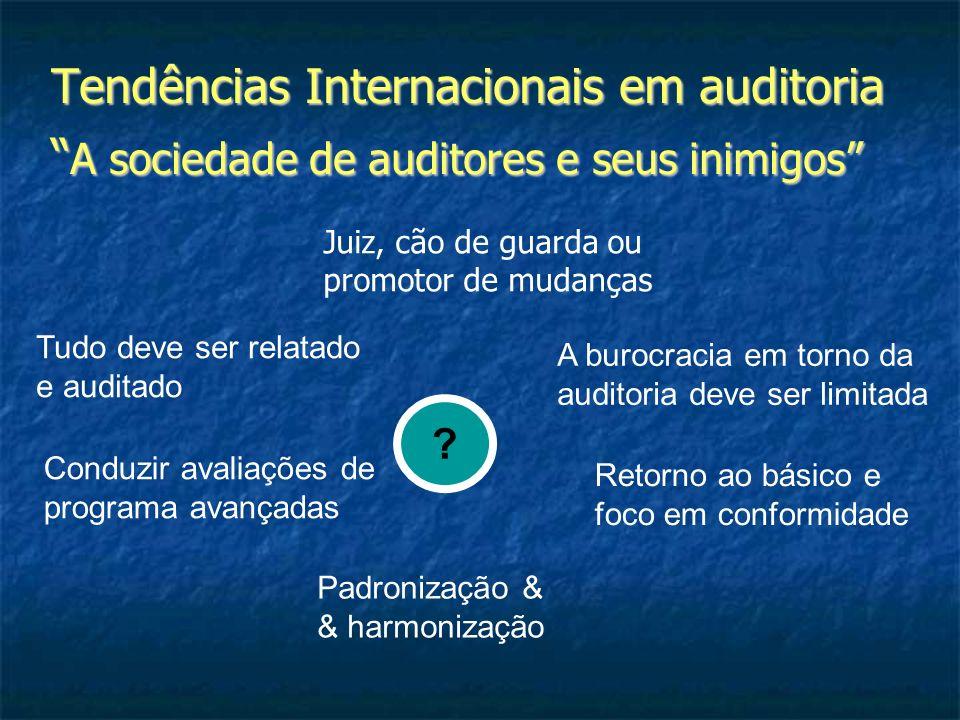 Tendências Internacionais em auditoria A sociedade de auditores e seus inimigos A sociedade de auditores e seus inimigos Tudo deve ser relatado e audi