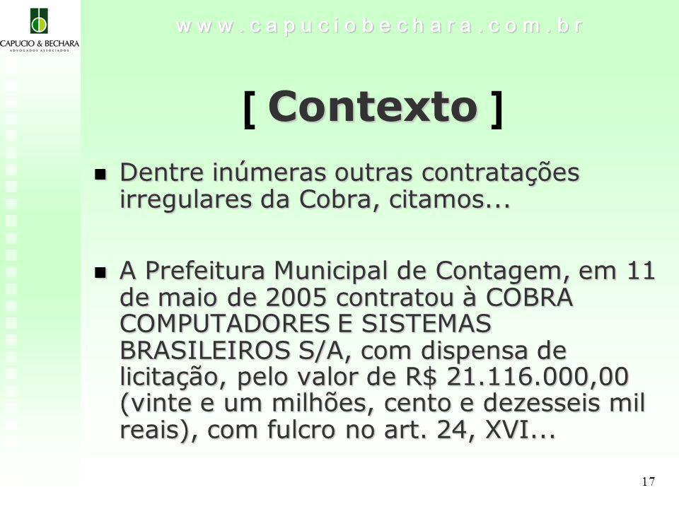 17 Contexto [ Contexto ] w w w.c a p u c i o b e c h a r a.