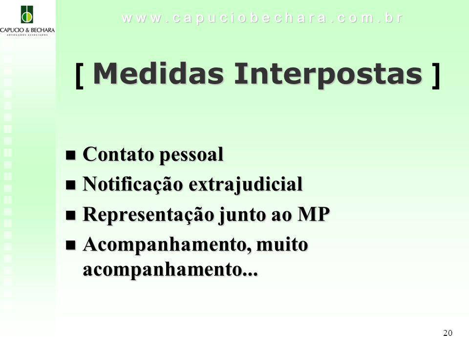 20 Medidas Interpostas [ Medidas Interpostas ] w w w.