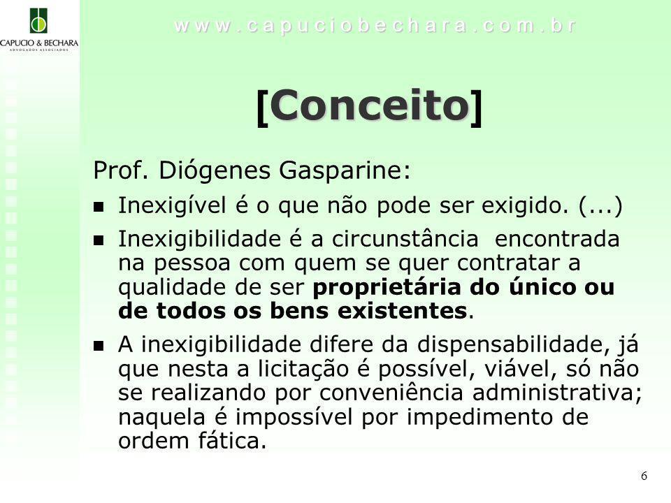 6 Conceito [ Conceito ] w w w.c a p u c i o b e c h a r a.