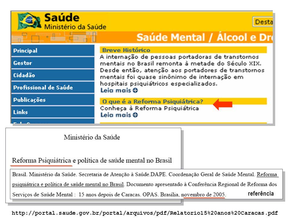 referência http://portal.saude.gov.br/portal/arquivos/pdf/Relatorio15%20anos%20Caracas.pdf