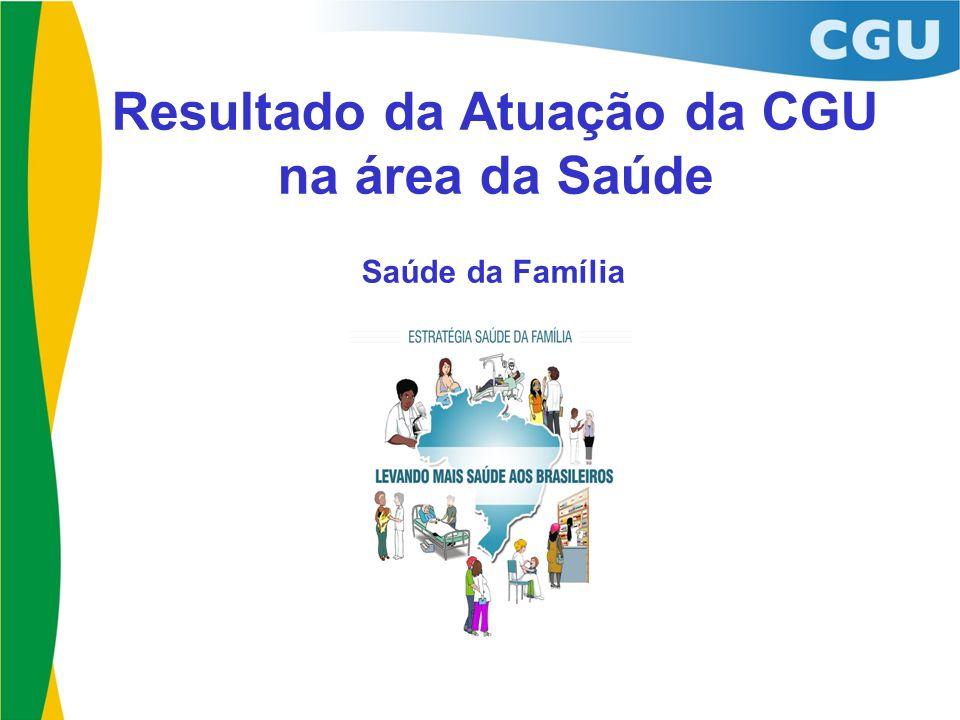 Resultado da Atuação da CGU na área da Saúde Saúde da Família