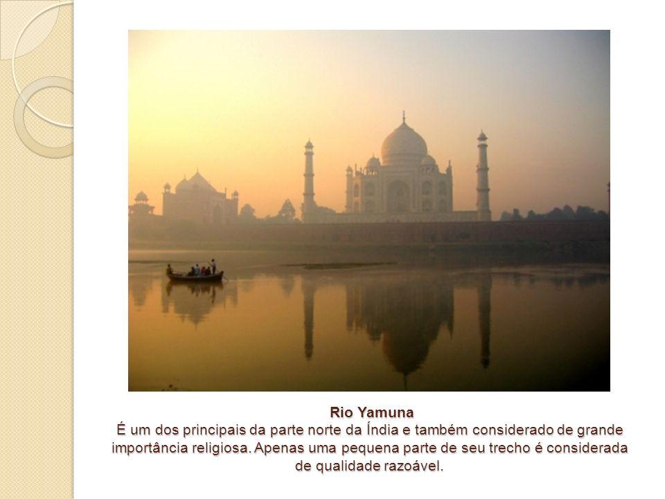 Rio Yamuna É um dos principais da parte norte da Índia e também considerado de grande importância religiosa. Apenas uma pequena parte de seu trecho é