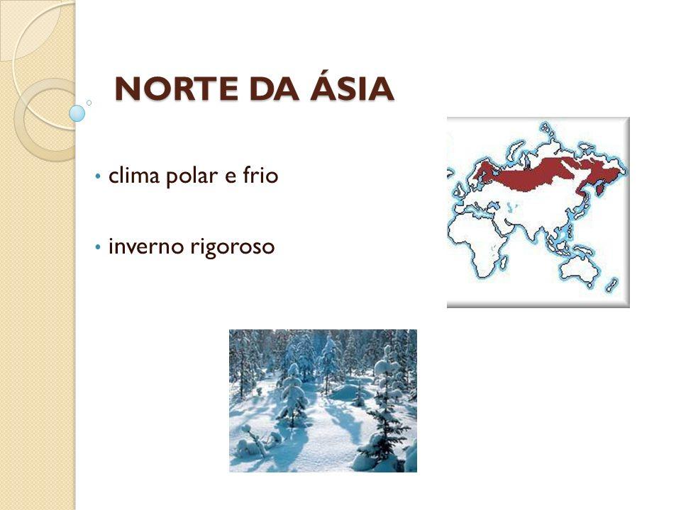 clima polar e frio inverno rigoroso NORTE DA ÁSIA