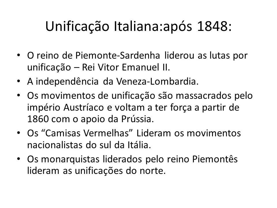 Muitas questões territoriais ficaram pendentes entre a Itália e o Imp.
