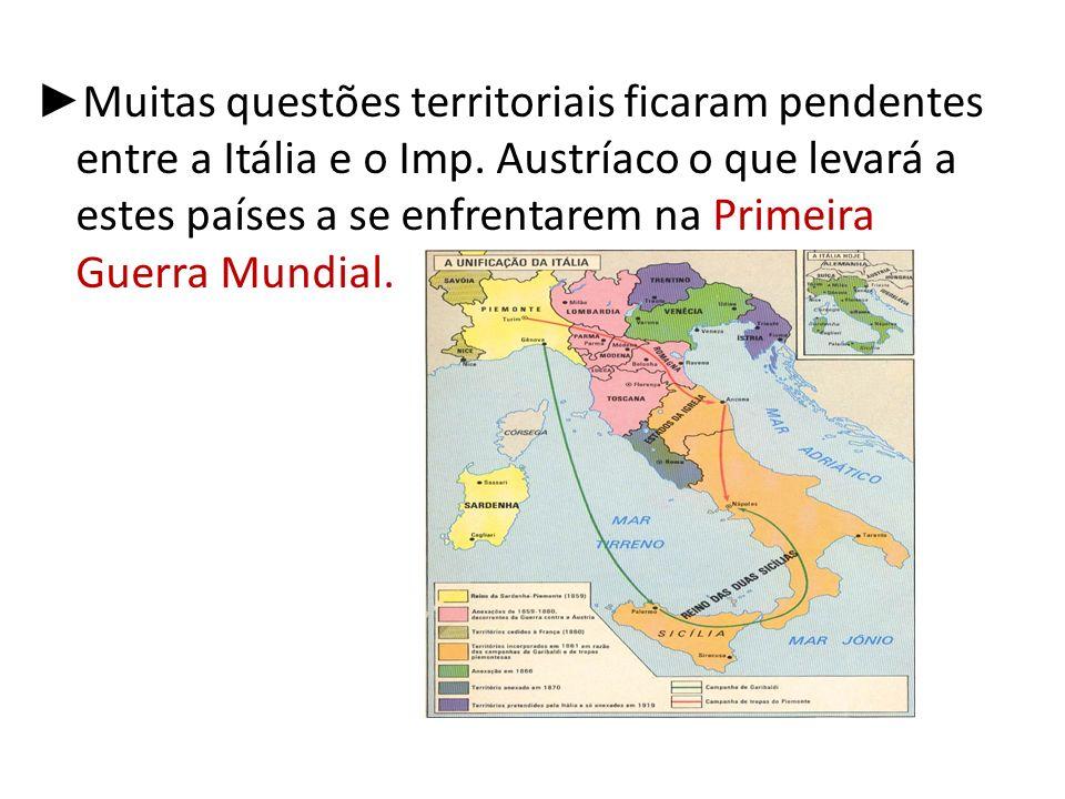 Unificação Alemã Congresso de Viena: – Confederação de Reno – Confederação Germânica(39 reinos subordinados ao Imp.