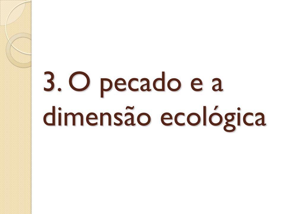 3. O pecado e a dimensão ecológica
