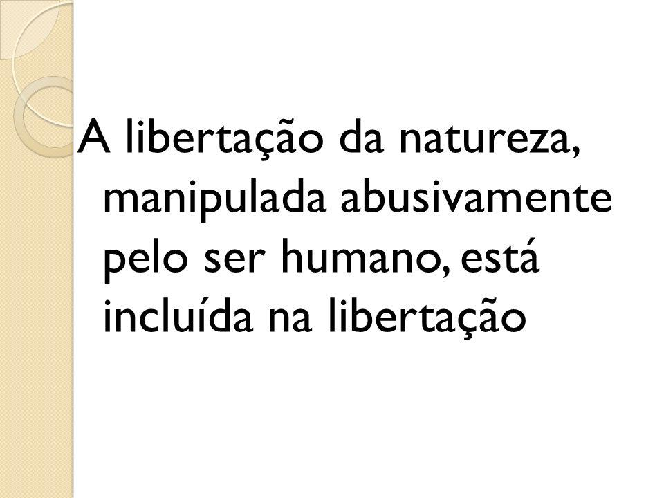 A libertação da natureza, manipulada abusivamente pelo ser humano, está incluída na libertação