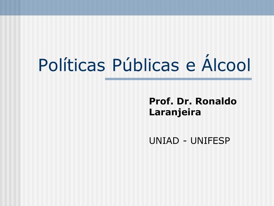 Políticas Públicas e Álcool Prof. Dr. Ronaldo Laranjeira UNIAD - UNIFESP