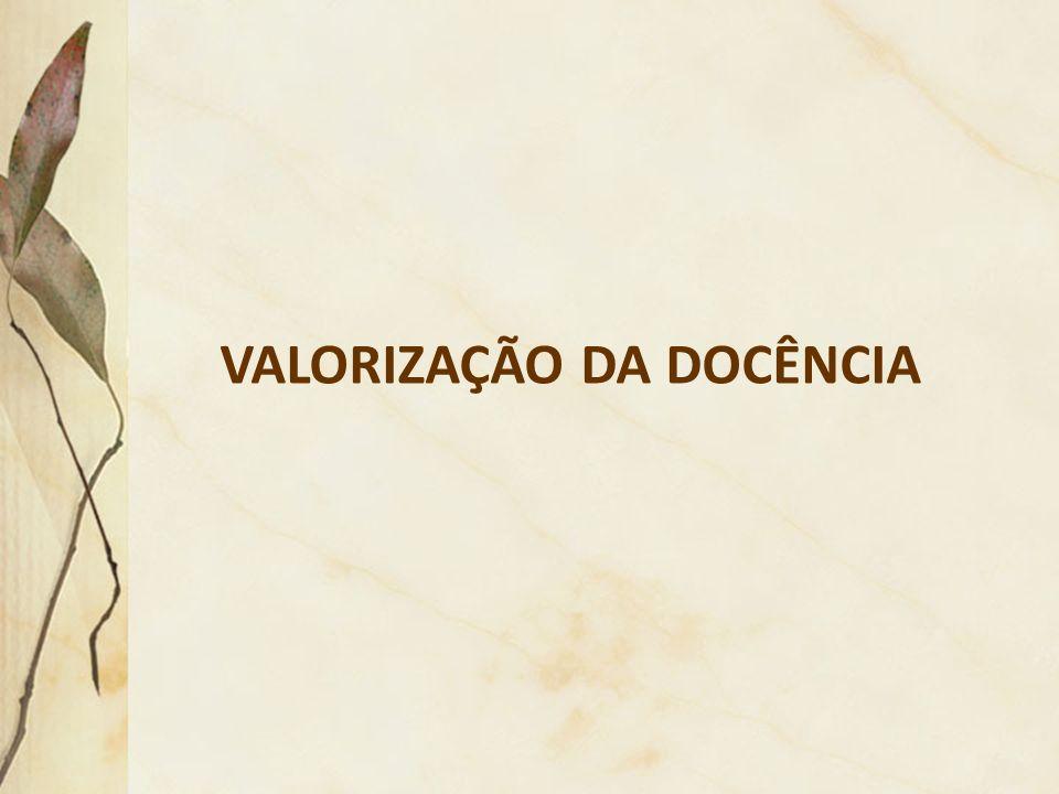 VALORIZAÇÃO DA DOCÊNCIA