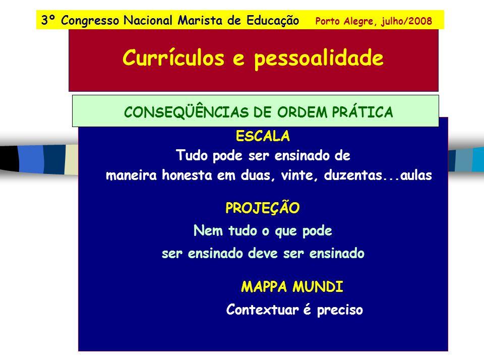 SISTEMAS DE PROJEÇÃO 3º Congresso Nacional Marista de Educação Porto Alegre, julho/2008
