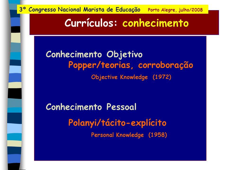 Currículos e programas: disciplinas, controle, igualdade música astronomia retórica gramática lógica aritmética TRIVIUM QUADRIVIUM geometria 3º Congre