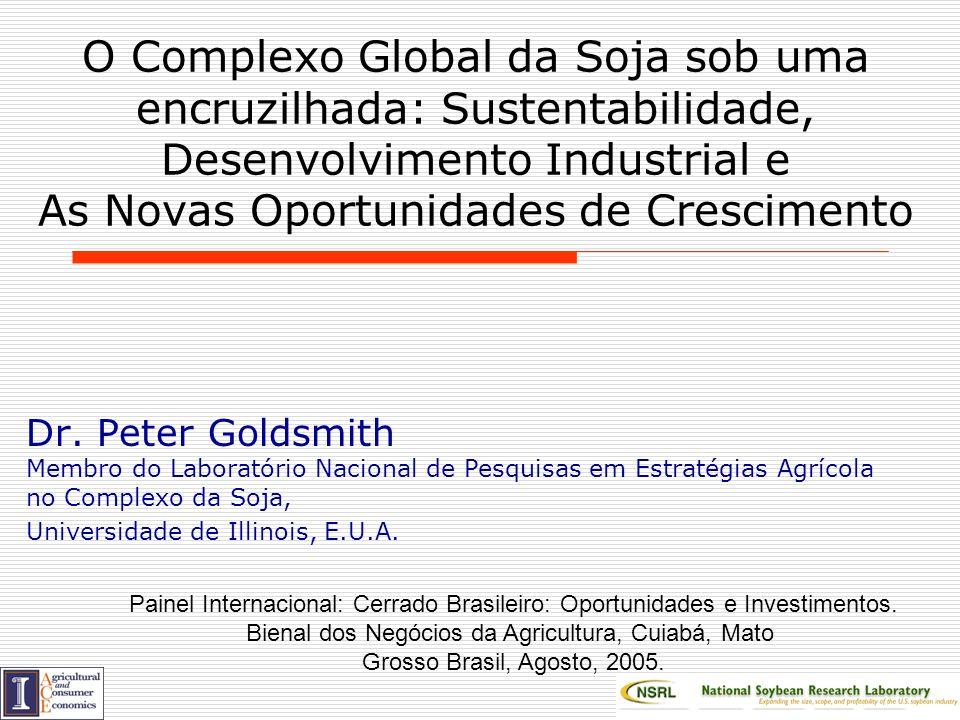 Goldsmith, Copyright U.Illinois BOD, 2005 Relação do Uso Doméstico da soja para Óleo Relação do Uso Doméstico de Soja para Óleo