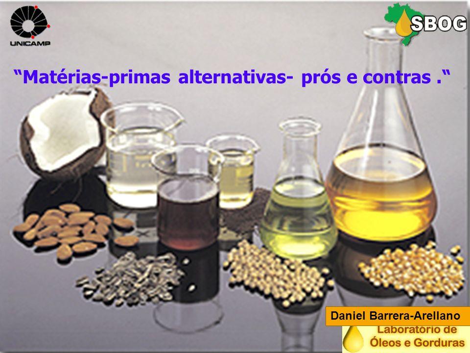 Matérias-primas alternativas- prós e contras. Daniel Barrera-Arellano