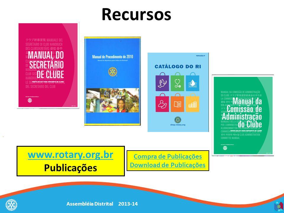 Recursos www.rotary.org.br www.rotary.org.br Publicações Compra de Publicações Download de Publicações