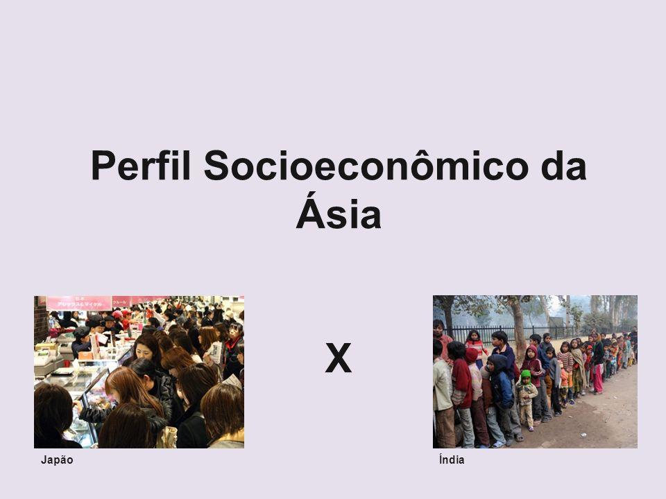 Perfil Socioeconômico da Ásia X JapãoÍndia