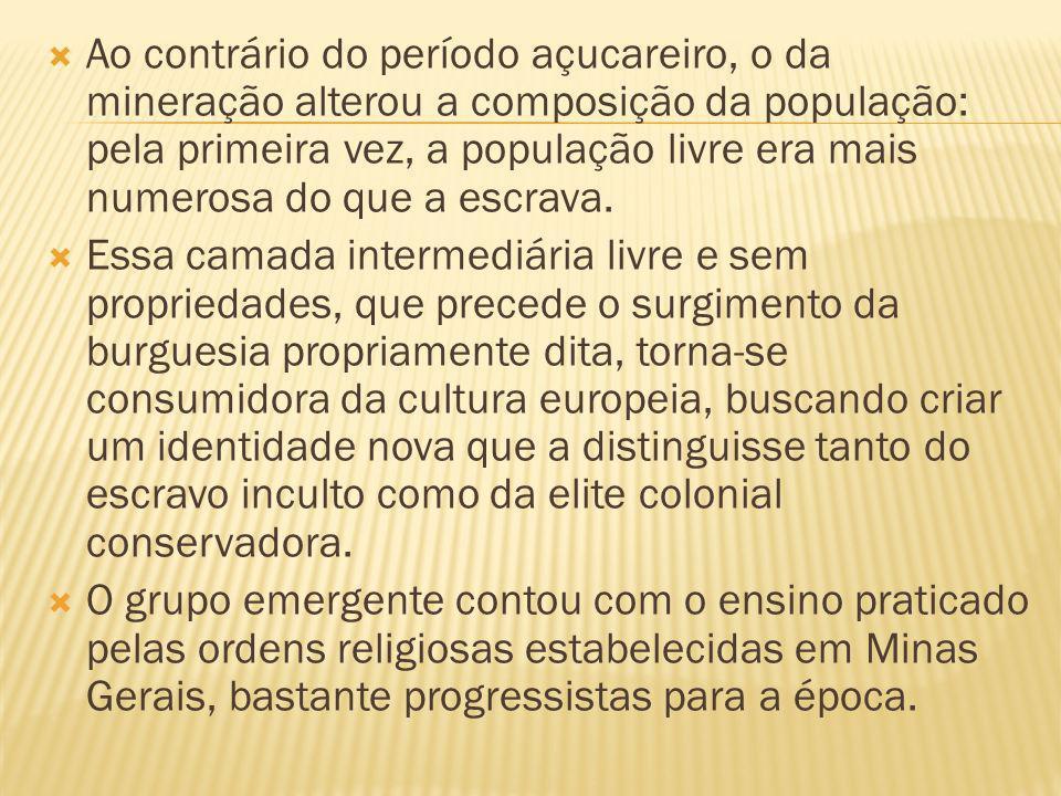 Com a transferência da corte joanina para o Brasil, em 1808, é introduzida na colônia a cultura portuguesa da época.