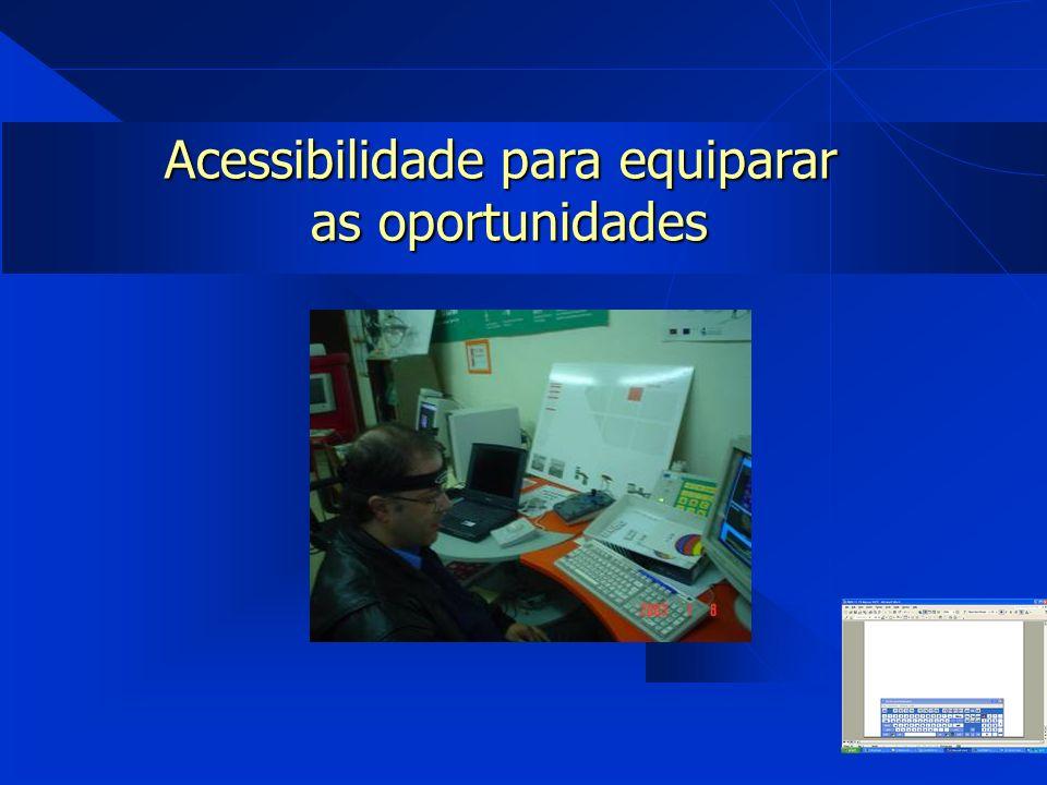 Acessibilidade para equiparar as oportunidades as oportunidades