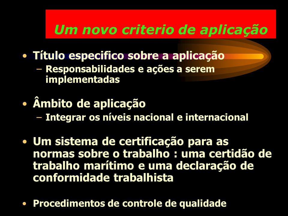 Um novo criterio de aplicação Título especifico sobre a aplicação –Responsabilidades e ações a serem implementadas Âmbito de aplicação –Integrar os ní