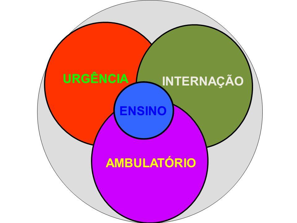 URGÊNCIA INTERNAÇÃO AMBULATÓRIO ENSINO