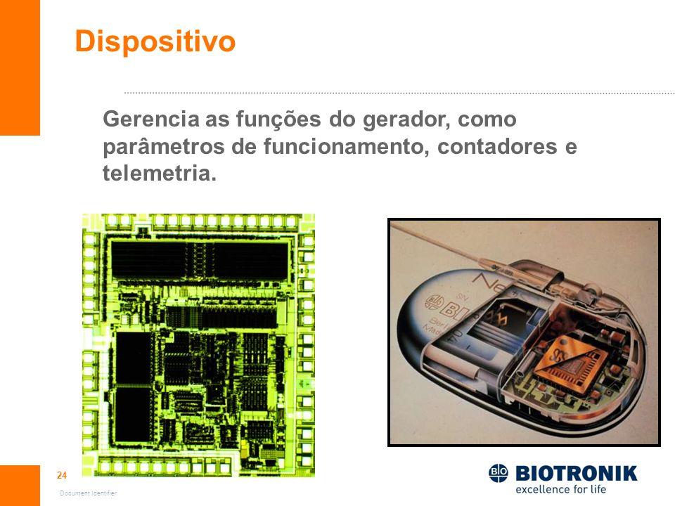 24 Document Identifier Gerencia as funções do gerador, como parâmetros de funcionamento, contadores e telemetria. Dispositivo