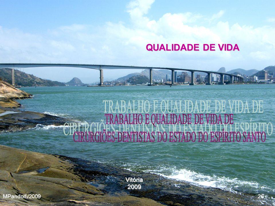 Vitória2009 QUALIDADE DE VIDA MPandolfi/2009 26