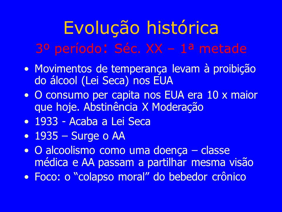 Evolução histórica 3º período: Séc.
