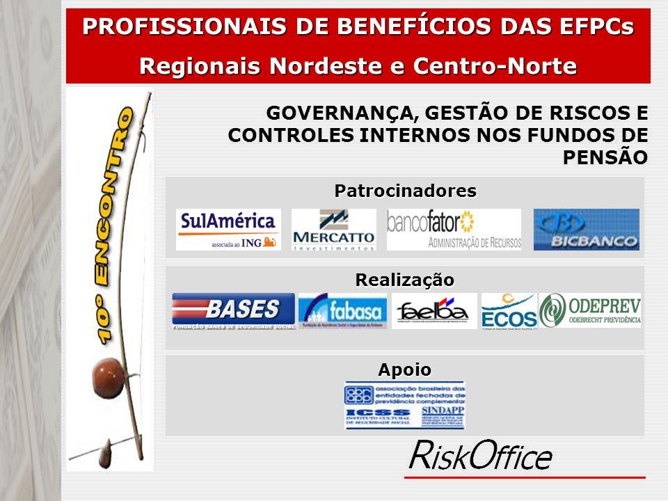 Apoio Realização Patrocinadores PROFISSIONAIS DE BENEFÍCIOS DAS EFPCs Regionais Nordeste e Centro-Norte GOVERNANÇA, GESTÃO DE RISCOS E CONTROLES INTER
