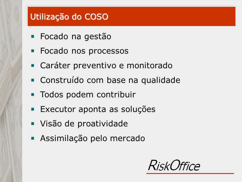 Focado na gestão Focado nos processos Caráter preventivo e monitorado Construído com base na qualidade Todos podem contribuir Executor aponta as soluç