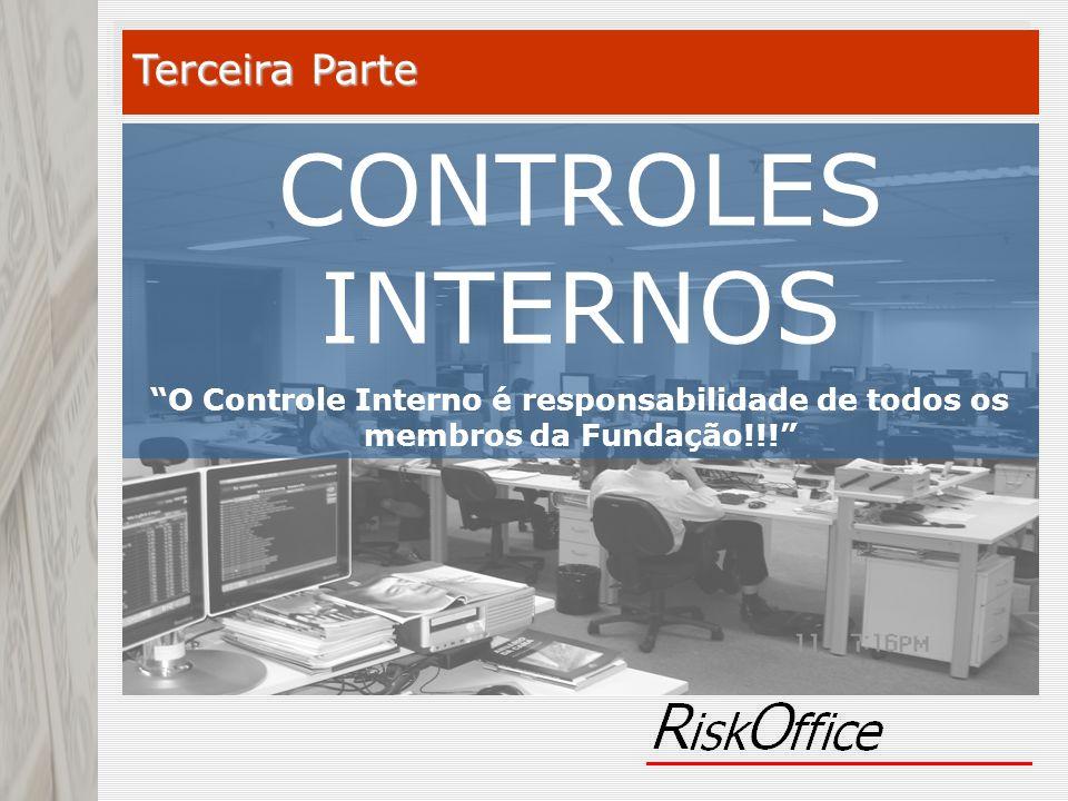 CONTROLES INTERNOS O Controle Interno é responsabilidade de todos os membros da Fundação!!! Terceira Parte