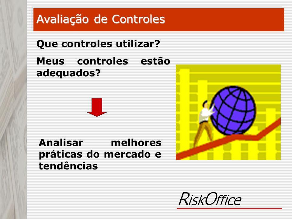 Que controles utilizar? Meus controles estão adequados? Analisar melhores práticas do mercado e tendências Avaliação de Controles