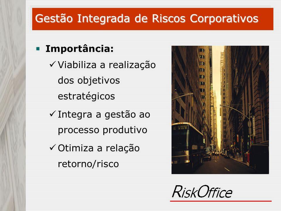 Importância: Viabiliza a realização dos objetivos estratégicos Integra a gestão ao processo produtivo Otimiza a relação retorno/risco Gestão Integrada