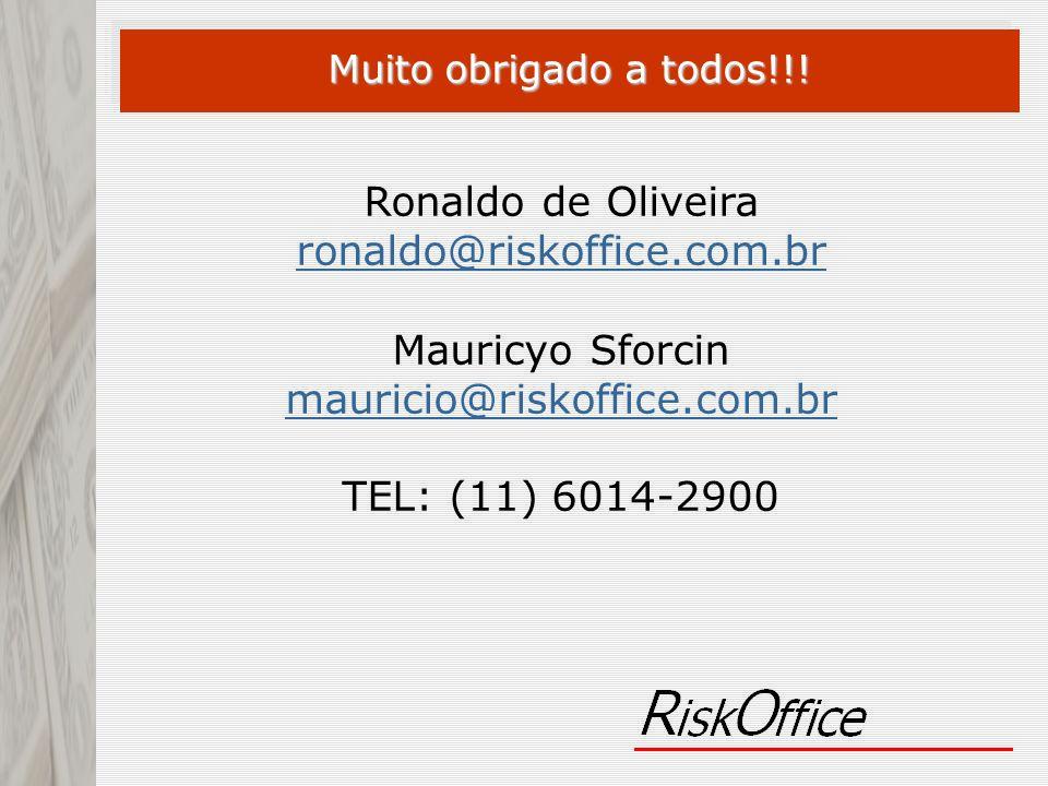 Ronaldo de Oliveira ronaldo@riskoffice.com.br ronaldo@riskoffice.com.br Mauricyo Sforcin mauricio@riskoffice.com.br mauricio@riskoffice.com.br TEL: (1