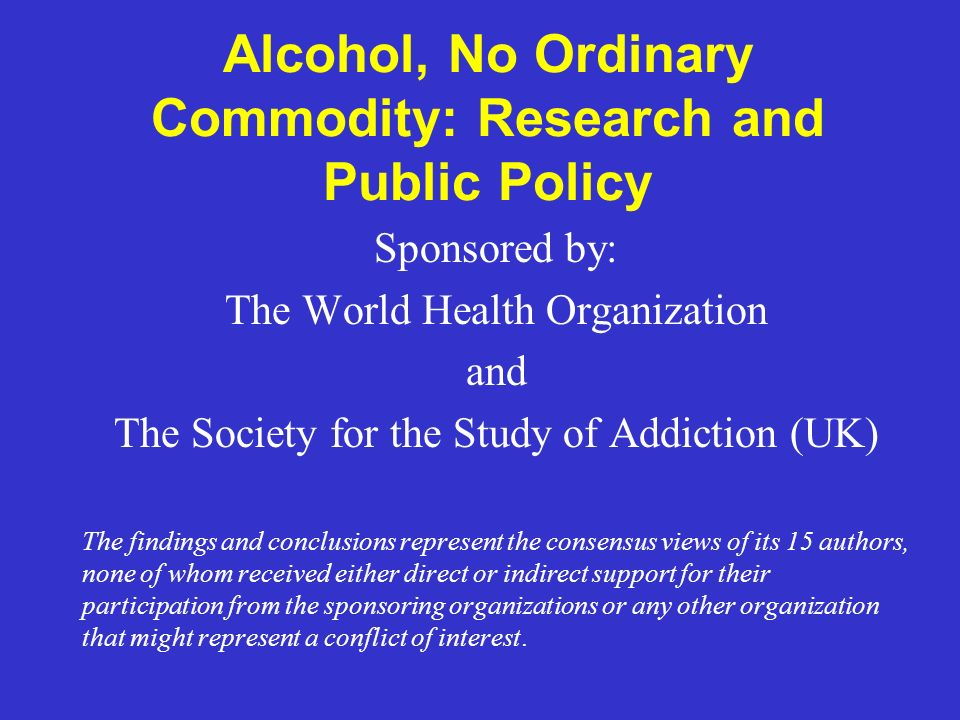 Prevention Strategies Reviewed and Evaluated Regulating Physical Availability Pricing and Taxation Altering the Drinking Context Education and Persuasion Regulating Alcohol Promotion Drinking-Driving Countermeasures Treatment and Early Intervention