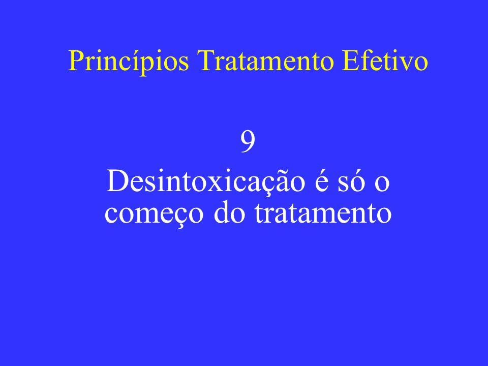 Princípios Tratamento Efetivo 9 Desintoxicação é só o começo do tratamento
