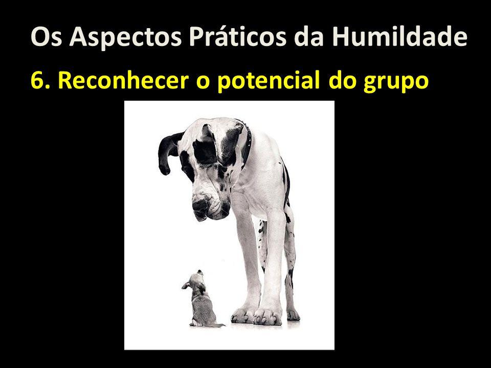 Os Aspectos Práticos da Humildade 6. Reconhecer o potencial do grupo
