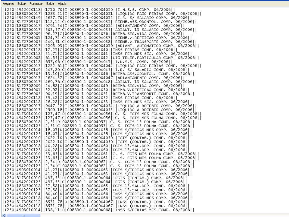 1.REGISTRO J800: Outras Informações NºCampoDescriçãoTipoTa m De c 01REGTexto fixo contendo J800.C004- 02ARQ_RTFSeqüência de bytes que representem um único arquivo no formato RTF (Rich Text Format).