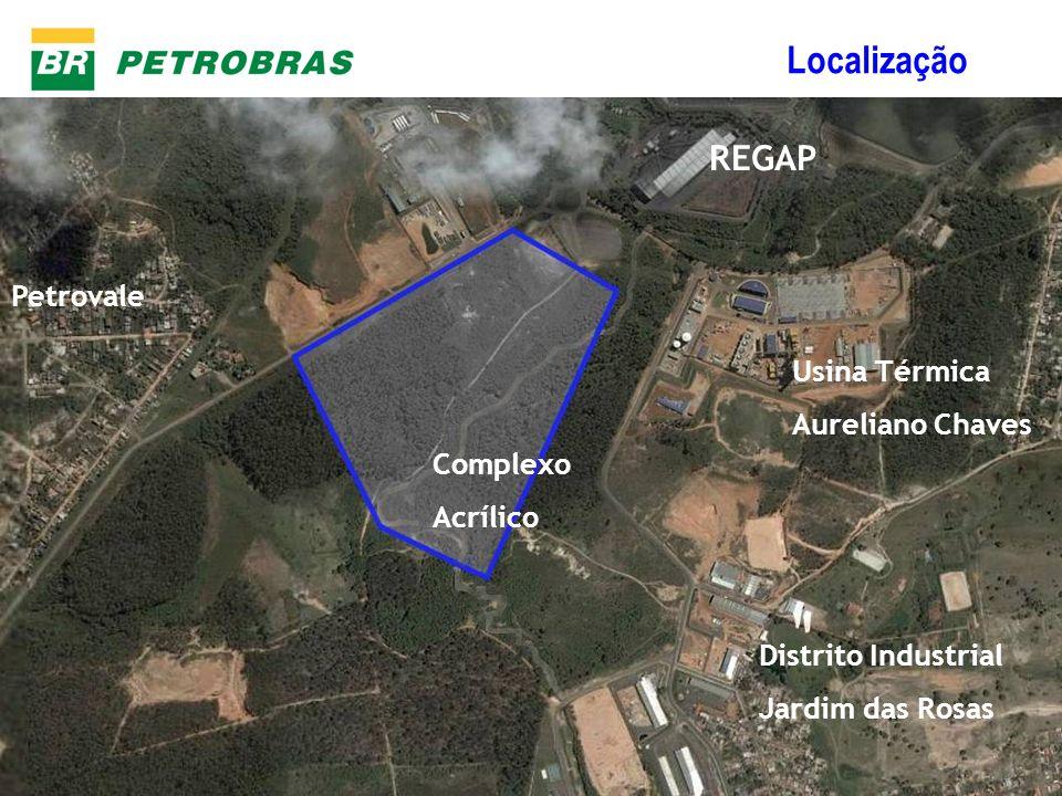 Gerência de Desenvolvimento e Estudos Logísticos Localização REGAP Usina Térmica Aureliano Chaves Complexo Acrílico Distrito Industrial Jardim das Ros