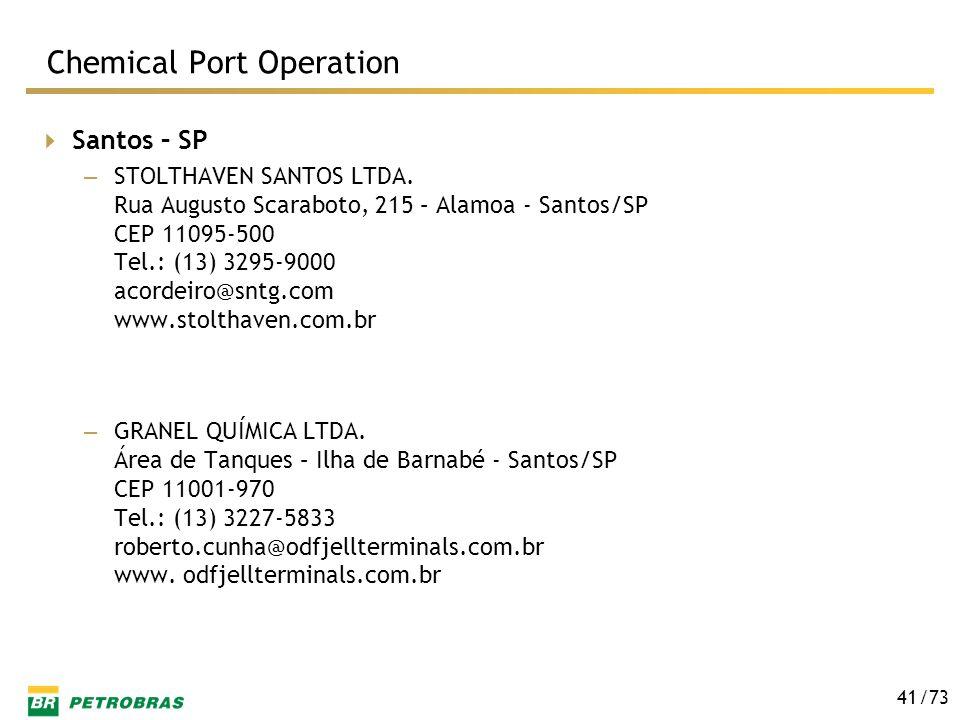 /73 41 Santos – SP – STOLTHAVEN SANTOS LTDA. Rua Augusto Scaraboto, 215 – Alamoa - Santos/SP CEP 11095-500 Tel.: (13) 3295-9000 acordeiro@sntg.com www