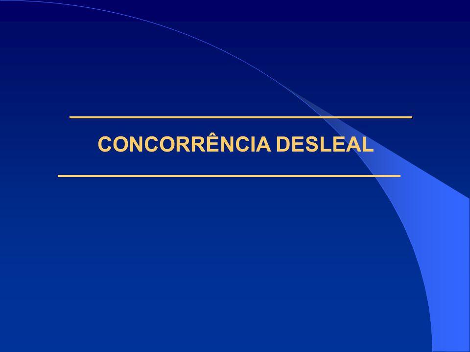 CONCORRÊNCIA DESLEAL