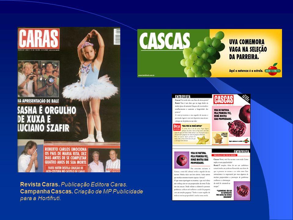 Revista Caras.Publicação Editora Caras. Campanha Cascas.