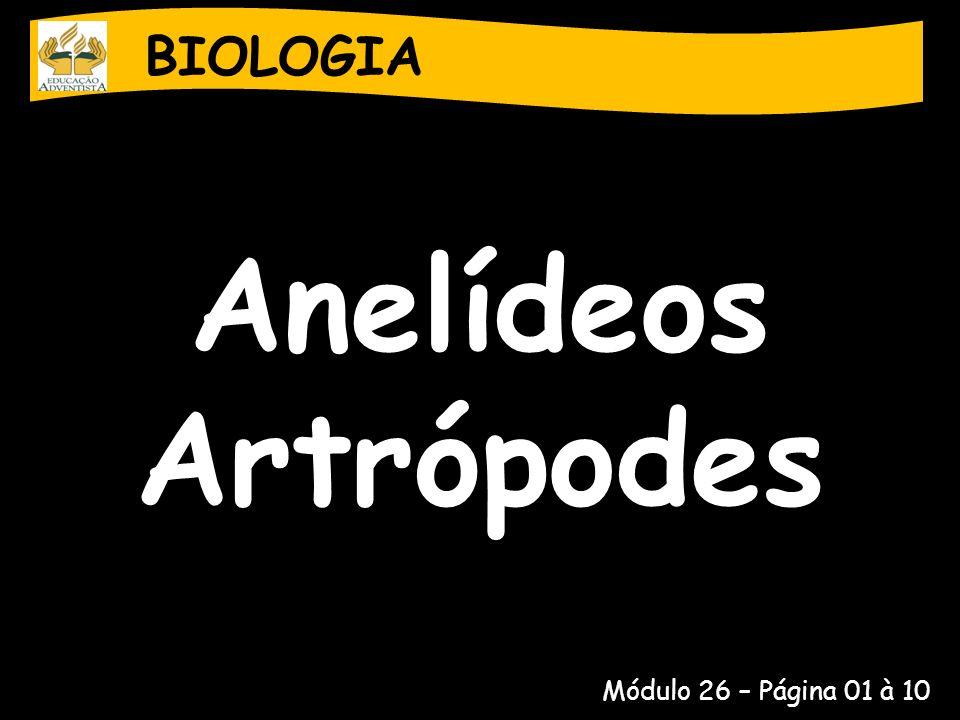 BIOLOGIA Anelídeos Artrópodes Módulo 26 – Página 01 à 10